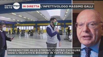 Massimo Galli a Mattino 5