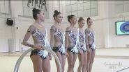 Le farfalle della nazionale di ginnastica ritmica