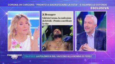 Fabrizio Corona vaccinato in carcere