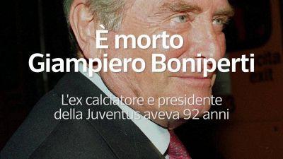 E' morto Giampiero Boniperti
