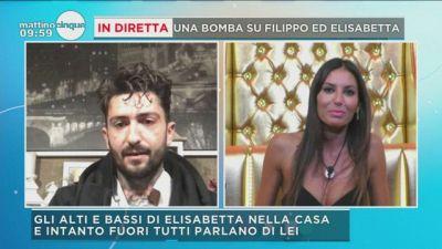 """GF Vip: la """"bomba"""" su Filippo Nardi e Elisabetta"""