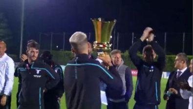 Lazio, festa a Formello con la coppa