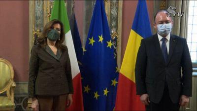 Casellati riceve il ministro romeno degli esteri Aurescu
