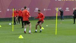 Europa League, la Roma si allena alla vigilia del match con l'Ajax
