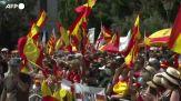 Madrid, 25mila in piazza per dire no all'indulto ai leader catalani