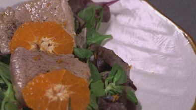 Insalata di filetto di maiale e clementine