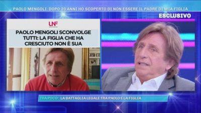 """Paolo Mengoli si apre a Domenica Live: """"Dopo 20 anni quella che credevo fosse mia figlia mi ha detto 'Non sei mio padre'"""""""