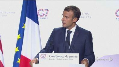 """Macron e Trump, """"grande unità"""""""