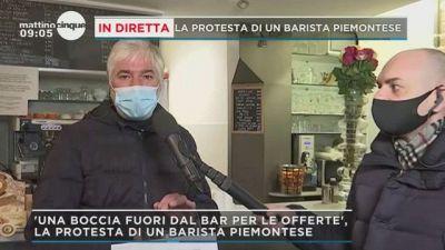 In diretta la protesta di un barista piemontese