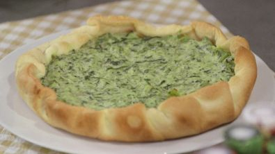 Quiche di catalogna e caprino
