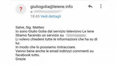 GOLIA: Attenzione, cercano di rubarvi dati personali con le email