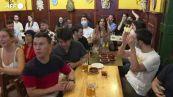 Europei, i tifosi spagnoli festeggiano il passaggio alle semifinali