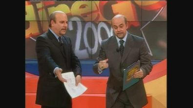 Maurizio Crozza e Alan Friedman a Mai dire Gol 2000