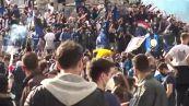 Scudetto Inter, migliaia di tifosi assembrati in piazza Duomo a Milano
