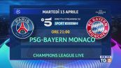 I quarti di Champions: Psg-Bayern su Canale 5