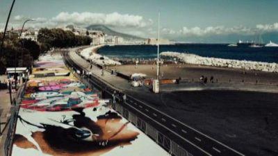 Museo a cielo aperto su lungomare Napoli: 3.300 mq di street art