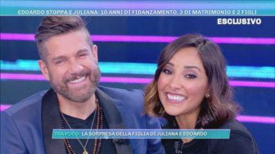 Edoardo Stoppa e Juliana Moreira festeggiano 3 anni di matrimonio