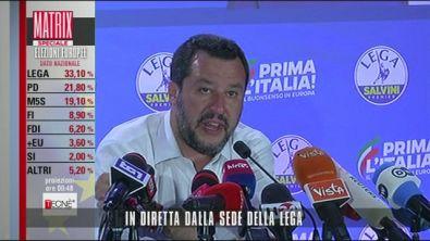 Il primo commento di Salvini ai risultati