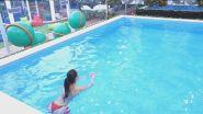 Acquagym in piscina con Carlotta Maggiorana