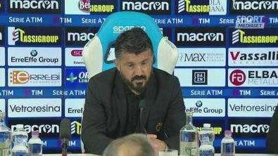 """Gattuso: """"Persa l'anima dopo il derby"""""""