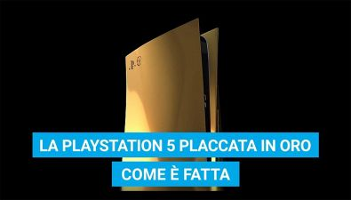 La PS5 placcata in oro: come è fatta