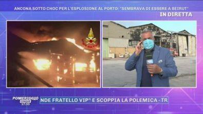 Ancona, incendio al porto. Le ultime notizie