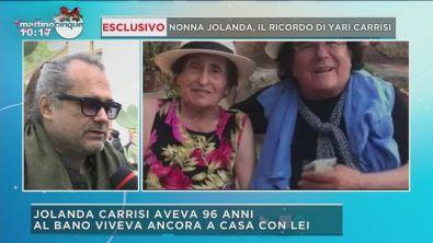 Esclusivo nonna Jolanda, il ricordo di Yari Carrisi