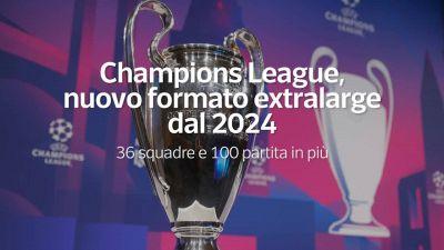 Champions League, nuovo formato extralarge dal 2024
