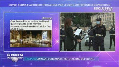 Covid-19, Roma: torna l'autocertificazione per le zone sottoposte a coprifuoco