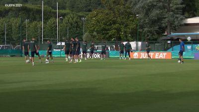 Europei, sorrisi e spensieratezza nell'ultimo allenamento prima del match con il Galles