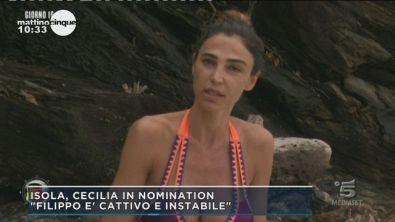 L'Isola dei Famosi: Cecilia in nomination