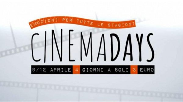 Al cinema a 3 euro in tutta Italia, torna 'Cinemadays'
