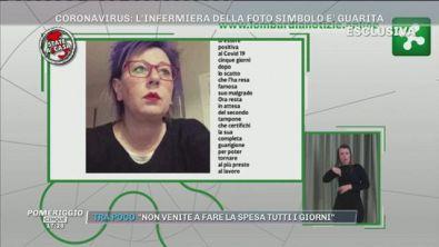 Elena Pagliarini, l'infermiera della foto simbolo, è guarita