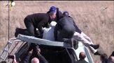 Rubins, Ryzhikov e Kud-Sverchkov vengono estratti dalla navicella