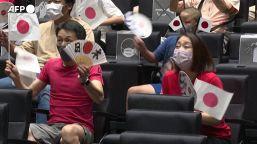 Tokyo2020, i giapponesi riuniti in un cinema per tifare la nazionale di softball