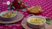 Zuppa di coda di rospo al curry