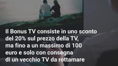 A chi spetta il Bonus TV da 150 euro