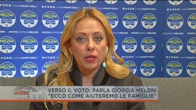 Giorgia Meloni e le famiglie