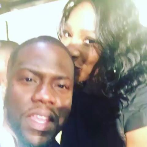 Serena Williams con Kevin Hart