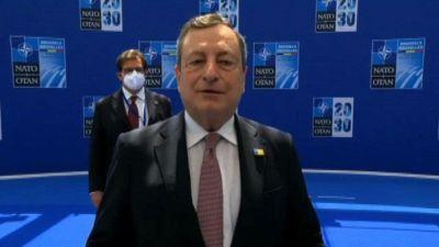 Draghi: vertice Nato riafferma l'alleanza tra gli Usa e l'Europa