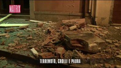 Terremoto , crolli e paura
