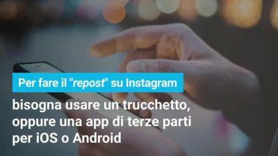 Come fare il repost su Instagram