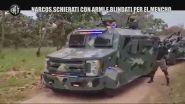 Narcos schierati con armi e blindati per El Mencho