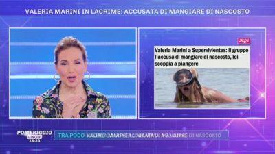 Valeria Marini in lacrime