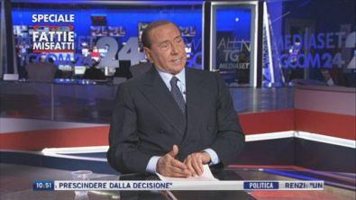 """Silvio Berlusconi: """"Sono preoccupato per il futuro del mio Paese"""" - Prima parte"""