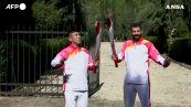 Pechino 2022, ad Olimpia accesa la fiamma
