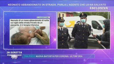 Verona, neonato abbandonato in strada. Parla l'agente che lo ha salvato