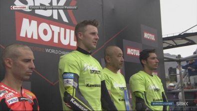 Sbk, il podio di Gara 1