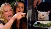 La donna che grida al gatto: la storia del meme dell'anno