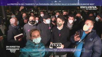 Covid-19, Milano: la protesta dei tassisti: ''Niente tasse''
